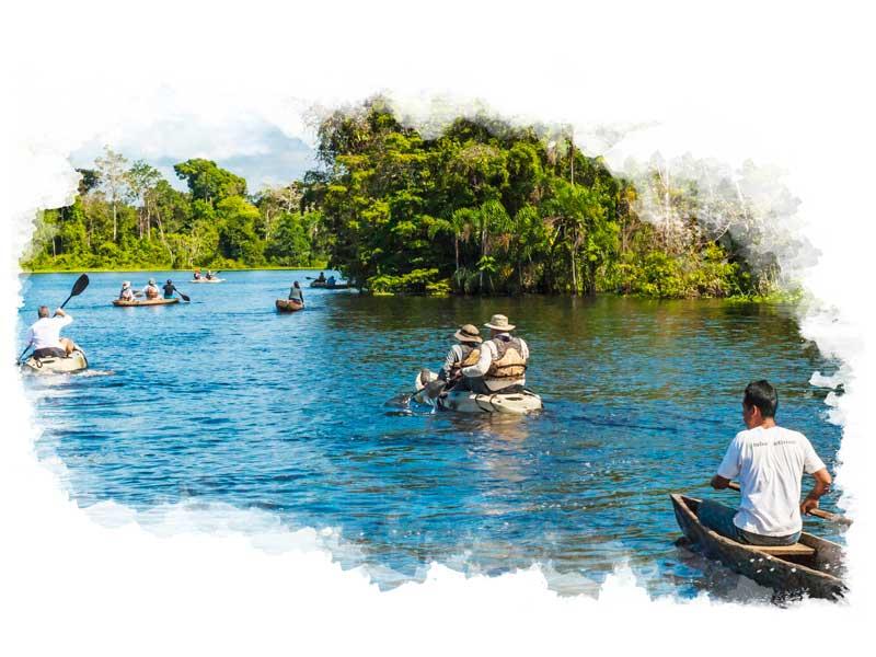Kayak down the amazon river on a luxury amazon tour