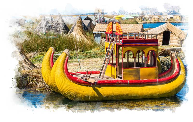 Hop on a man-made reef boat on Lake Titicaca with a customized Peru tour