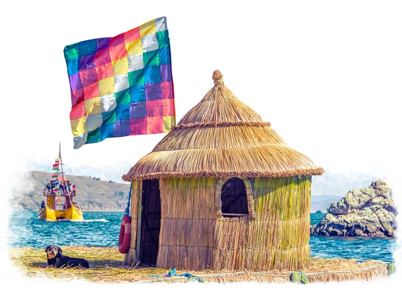 Visit a native family on Lake Titicaca in a luxury Bolivia tour