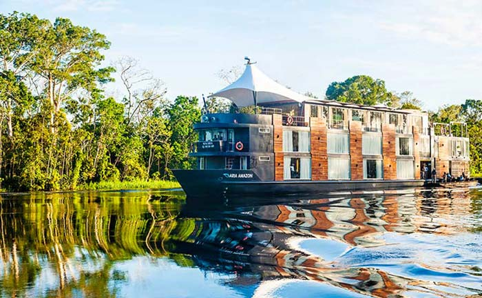 Experience a luxury amazon cruise tour through Peru