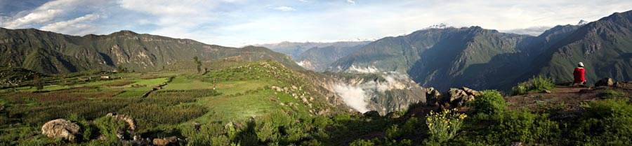 Colca canyon panoramic view