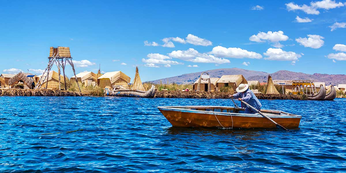Explore the depth of Lake Titicaca on a customized luxury Peru tour that also includes the Amazon Rain forest and Machu Picchu