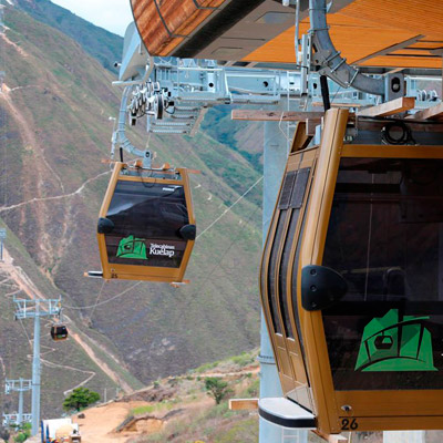 Cable Car in kuelap Chachapoyas