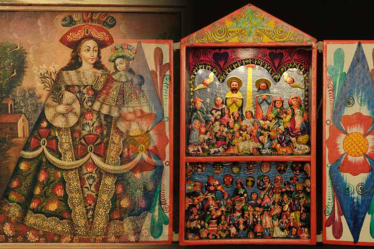 Cusco School Painting, Retablos
