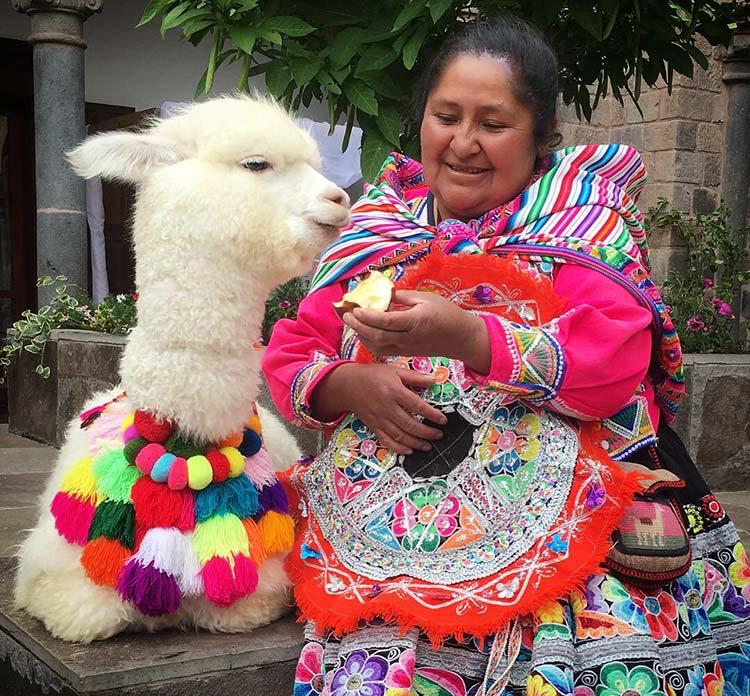 llama native woman