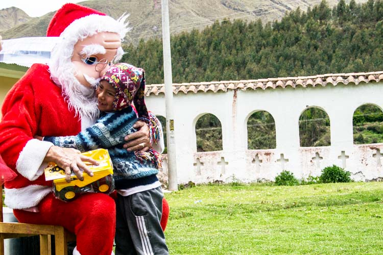 Celebrate Christmas Peru santa claus