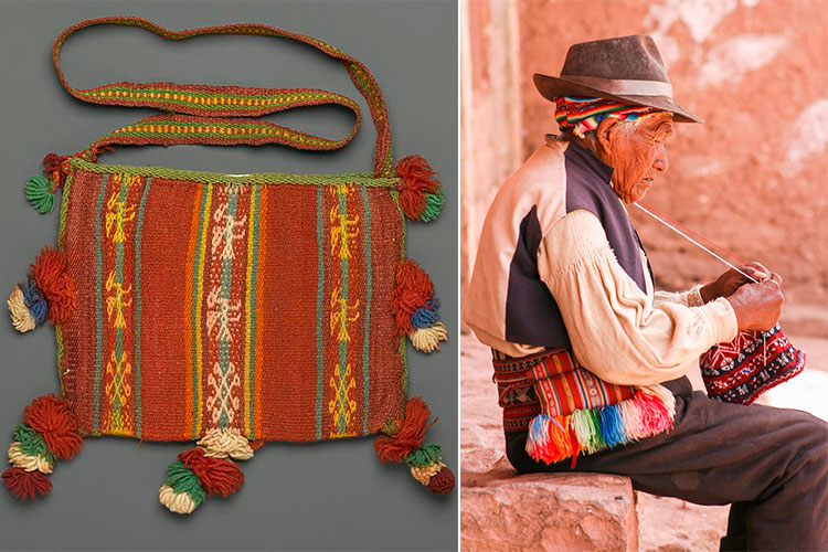 Peruvian clothing of the Andes chuspas