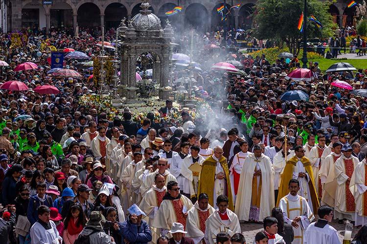 Corpus Christi festivities in cusco