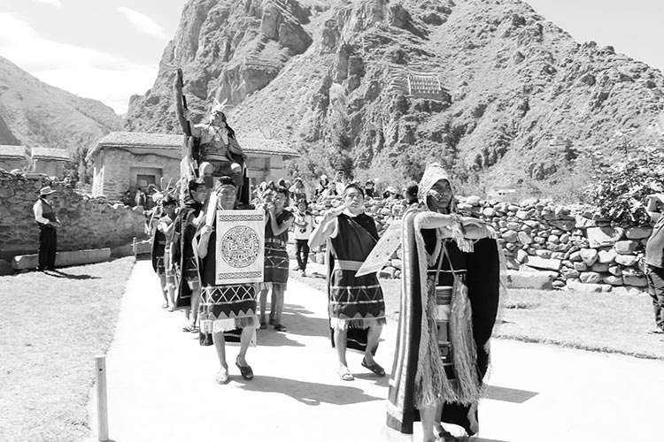 Ollantay raymi festivities in cusco