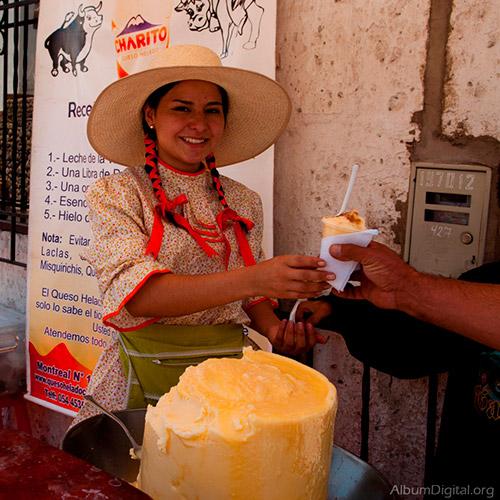 Arequipa Peru queso helado