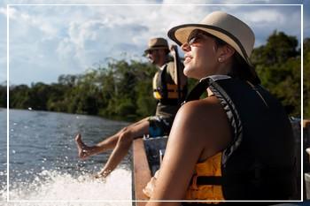 Cruising the Amazon River